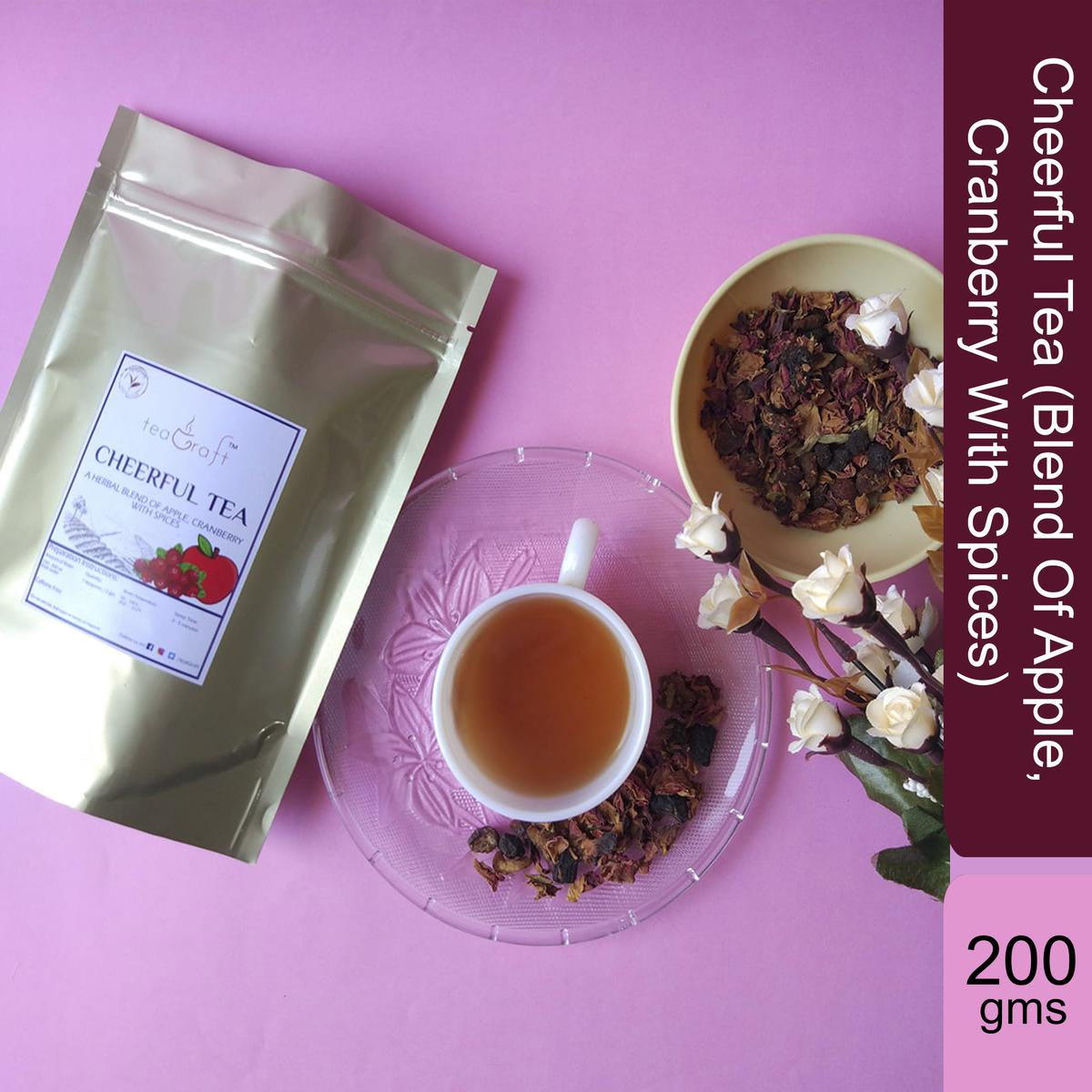 Cheerful Tea (Blend Of Apple, Cranberry With Spices) - 200 Gms