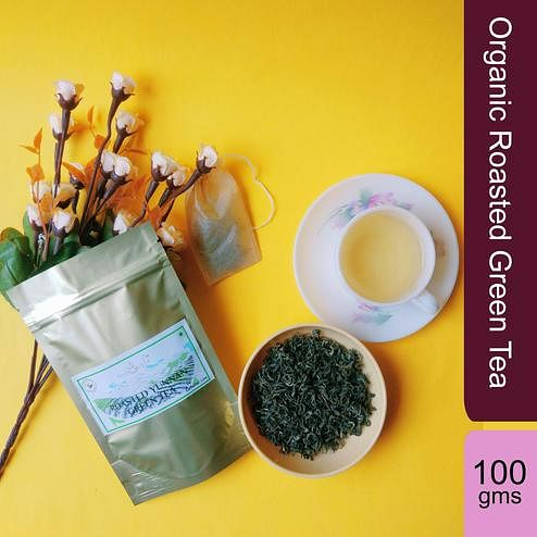 Organic Roasted Green Tea - 100 Gms