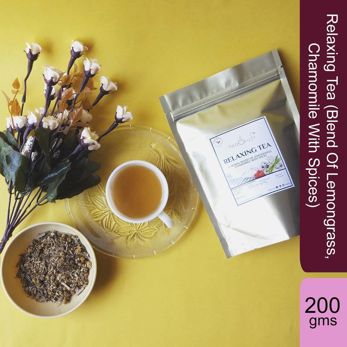Relaxing Tea (Blend Of Lemongrass, Chamomile With Spices) - 200 Gms