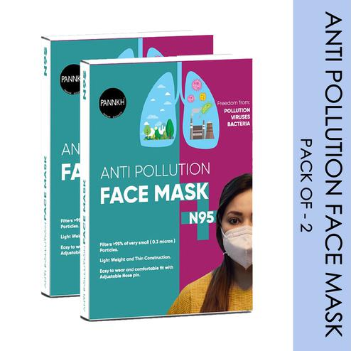 Pannkh Anti Pollution Face Mask N95 Pack Of 2