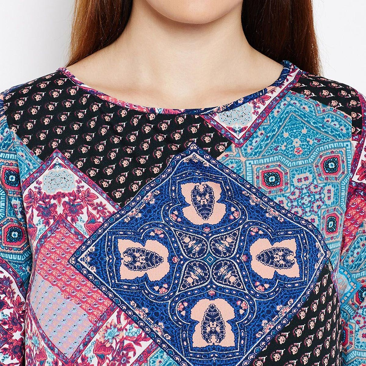 Stunning Multi Colored Casual Wear Printed Crepe Top
