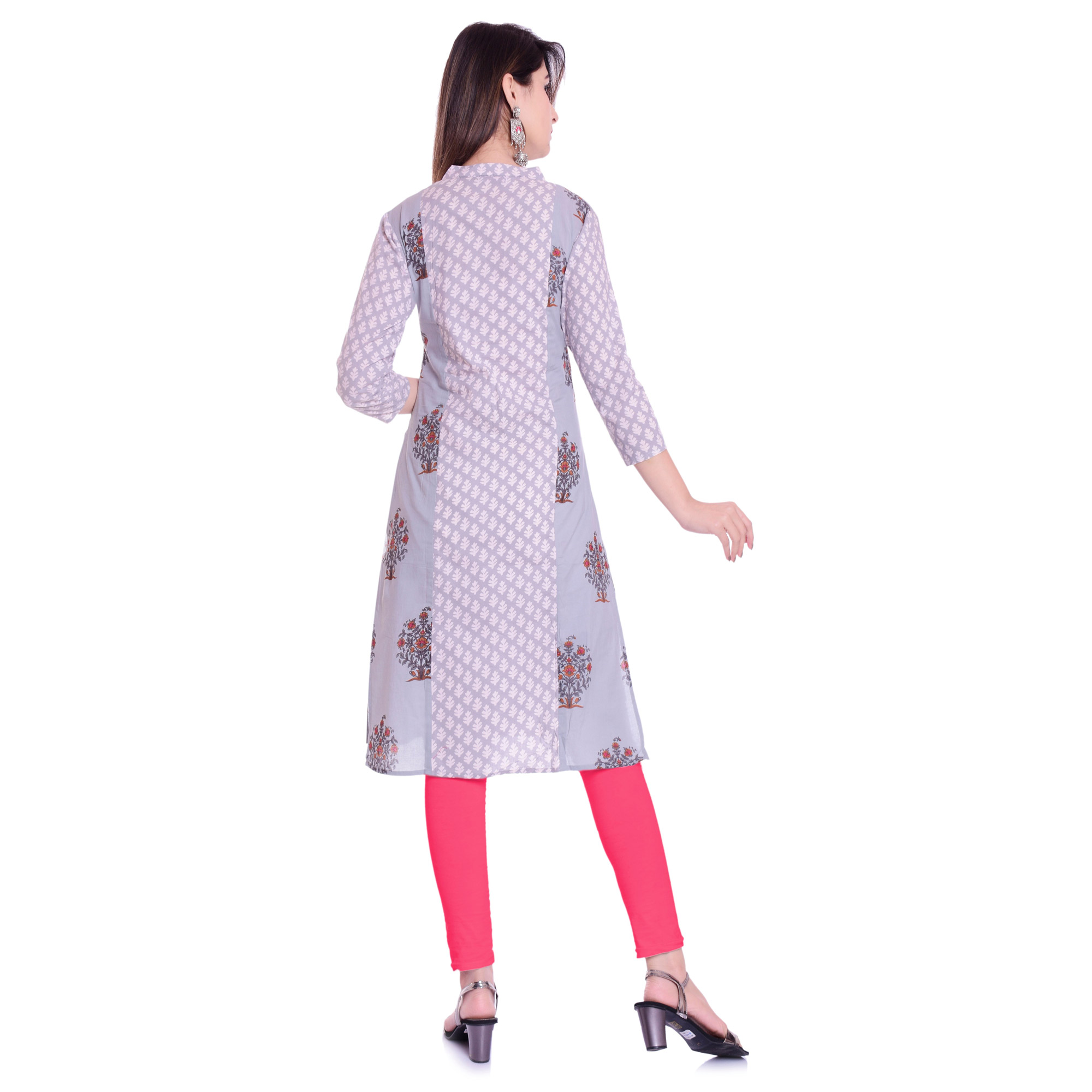 Jazzy Light Purple Colored Casual Wear Floral Printed Cotton Kurti