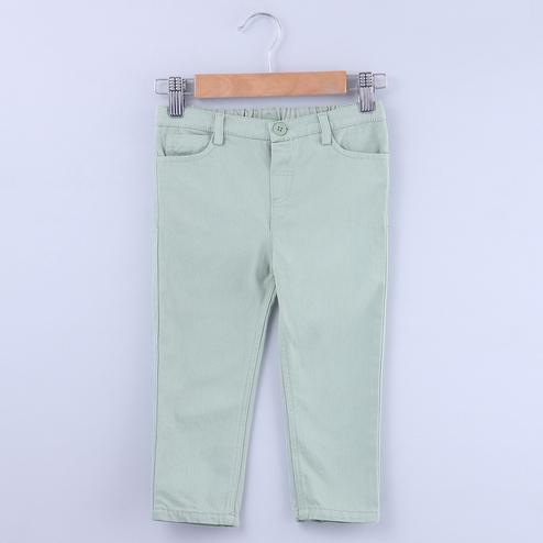 Beebay Granite Green Chino Trouser For Kids