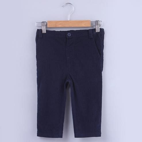 Beebay Navy Corduroy Trousers For Kids