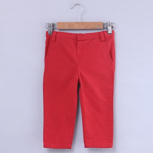 Beebay Red Chino Trouser For Kids