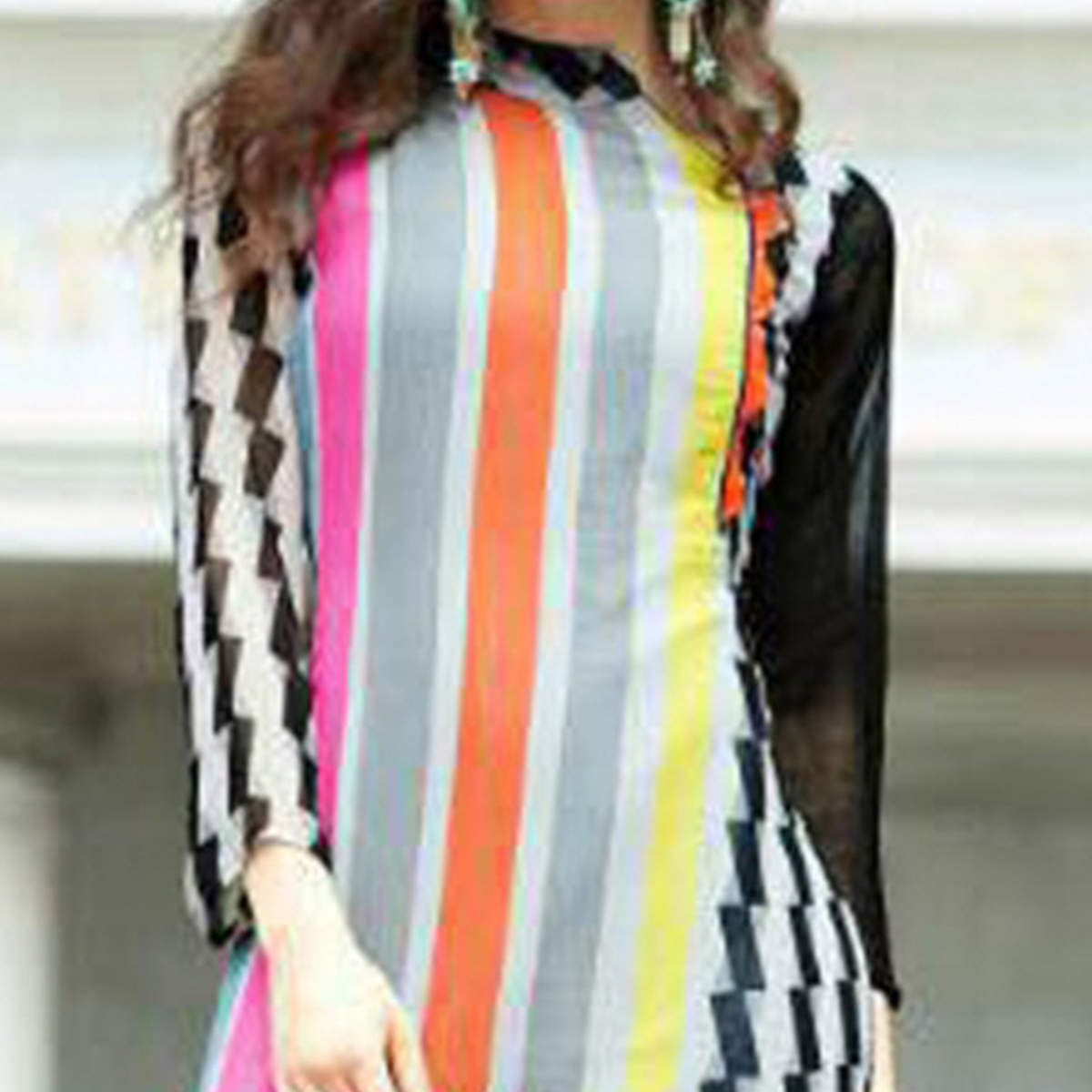Multicolored Digital Printed Fancy Kurti