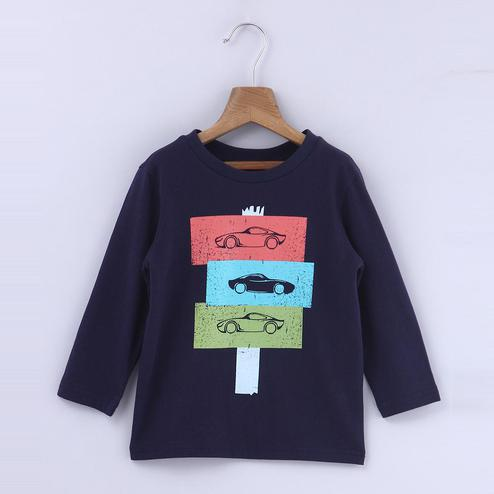 Beebay Car Box Print T-Shirt For Kids