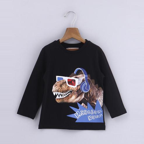 Beebay Dino Music Print T-Shirt For Infants
