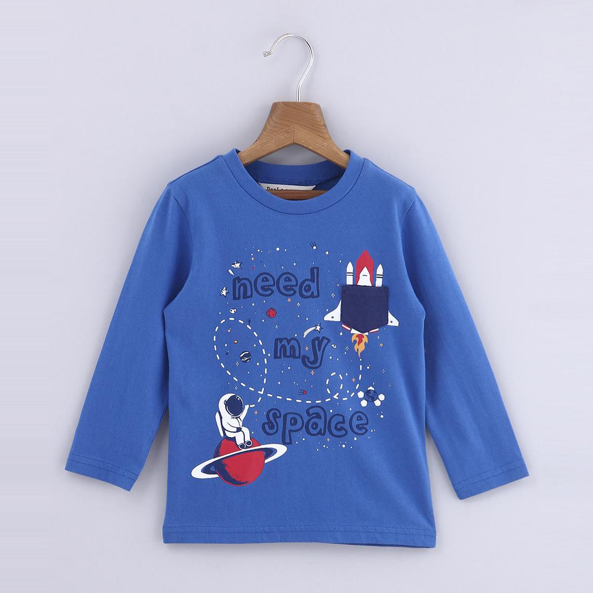 Beebay Space Print T-Shirt For Kids