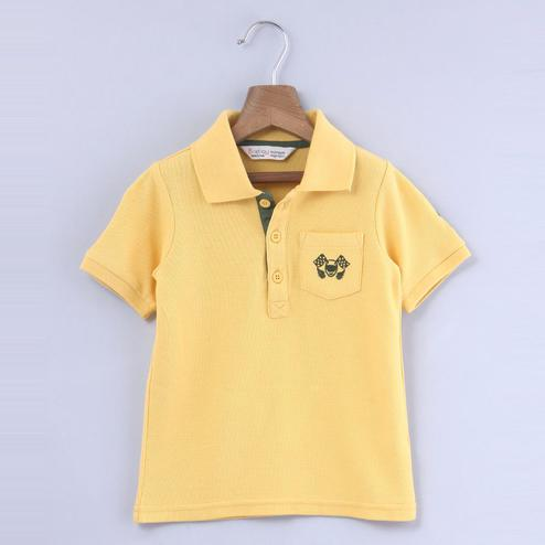 Beebay Racer Embroidered Polo T-shirt For Kids