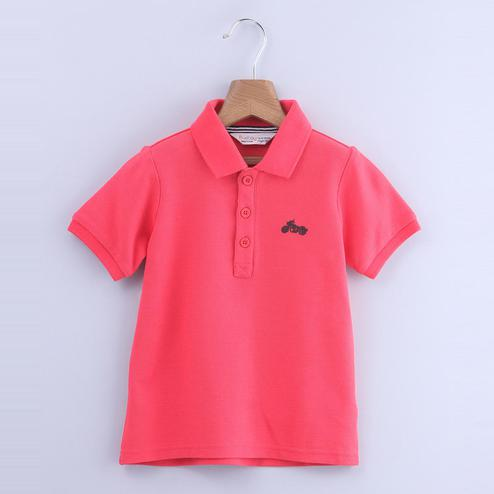 Beebay Bike Embroidered Polo T-shirt For Kids