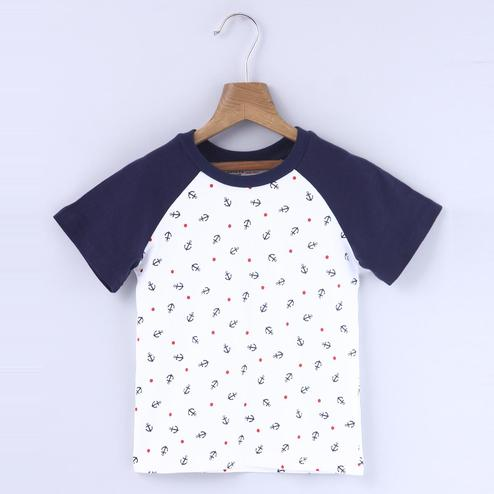 Beebay Anchor Print Reglan T-Shirt For Kids