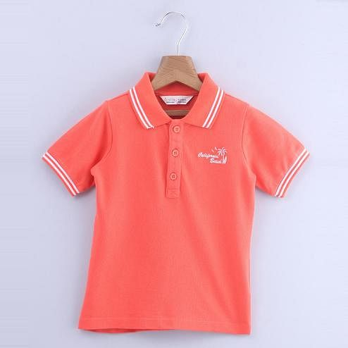 Beebay Polo T-Shirt with Stripe Collar For Kids