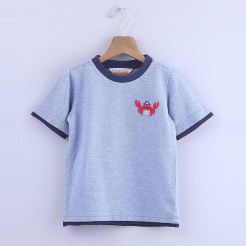 Beebay Crab Applique & Allover Print T-Shirt For Kids
