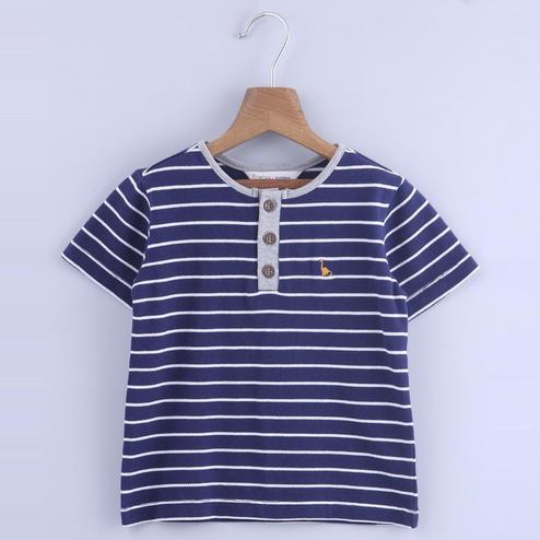 Beebay Stripe Henlay T-Shirt For Infants