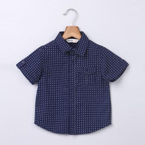 Beebay Navy Printed Shirt For Infants