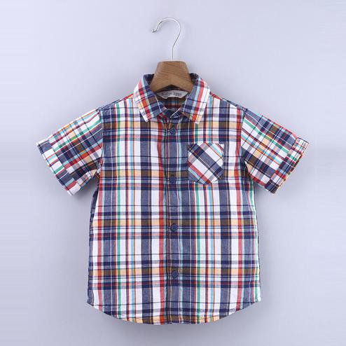 Beebay Plaid Short Sleeve Shirt For Infants