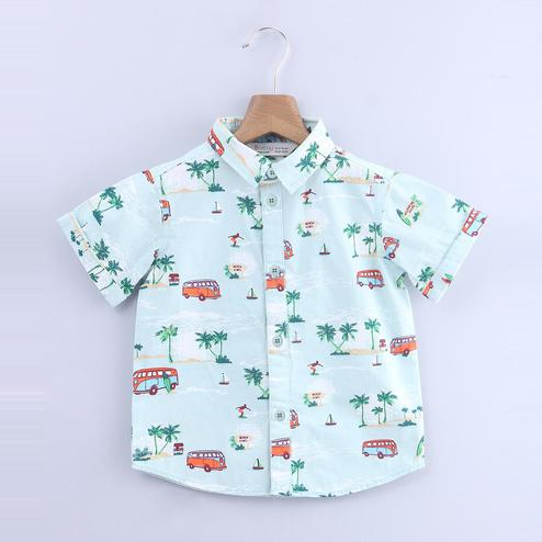 Beebay Beach Allover Print Shirt For Kids