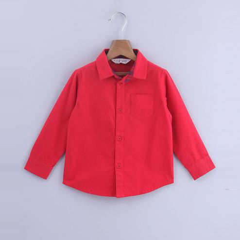 Beebay Red Long Sleeves Shirt For Infants