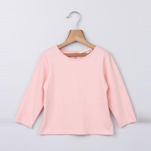Beebay Peach Full Sleeve T-Shirt For Kids