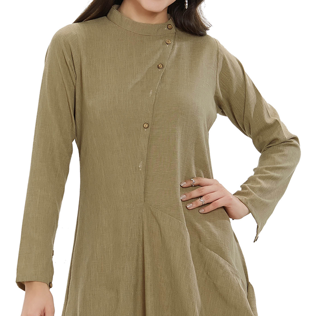Pleasance Grey Colored Party Wear Rayon Kurti