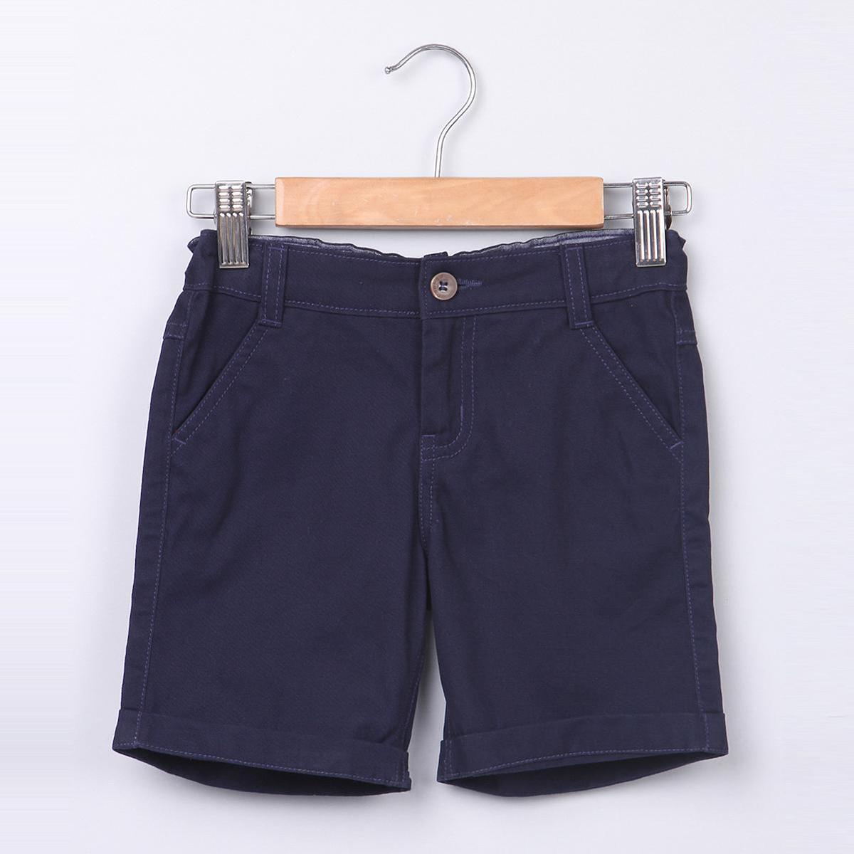 Beebay Navy Shorts With Turn -Up For Kids