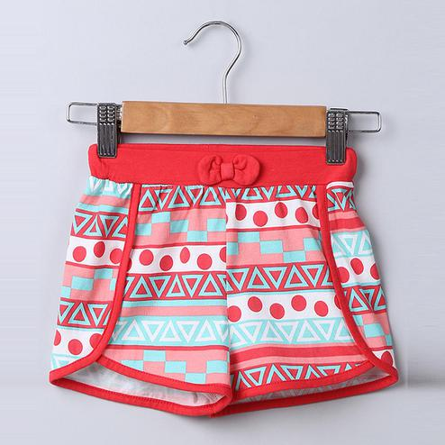 Beebay Tribal Print Knitted Shorts For Infants