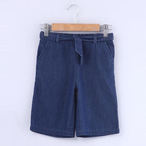 Beebay Denim Cullotte With Waist Tie For Kids