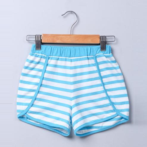 Beebay Blue & white stripe shorts For Infants