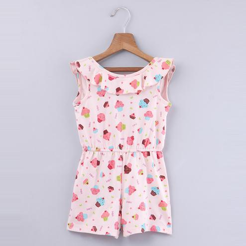 Beebay Cupcake Print Jumpsuit For Infants