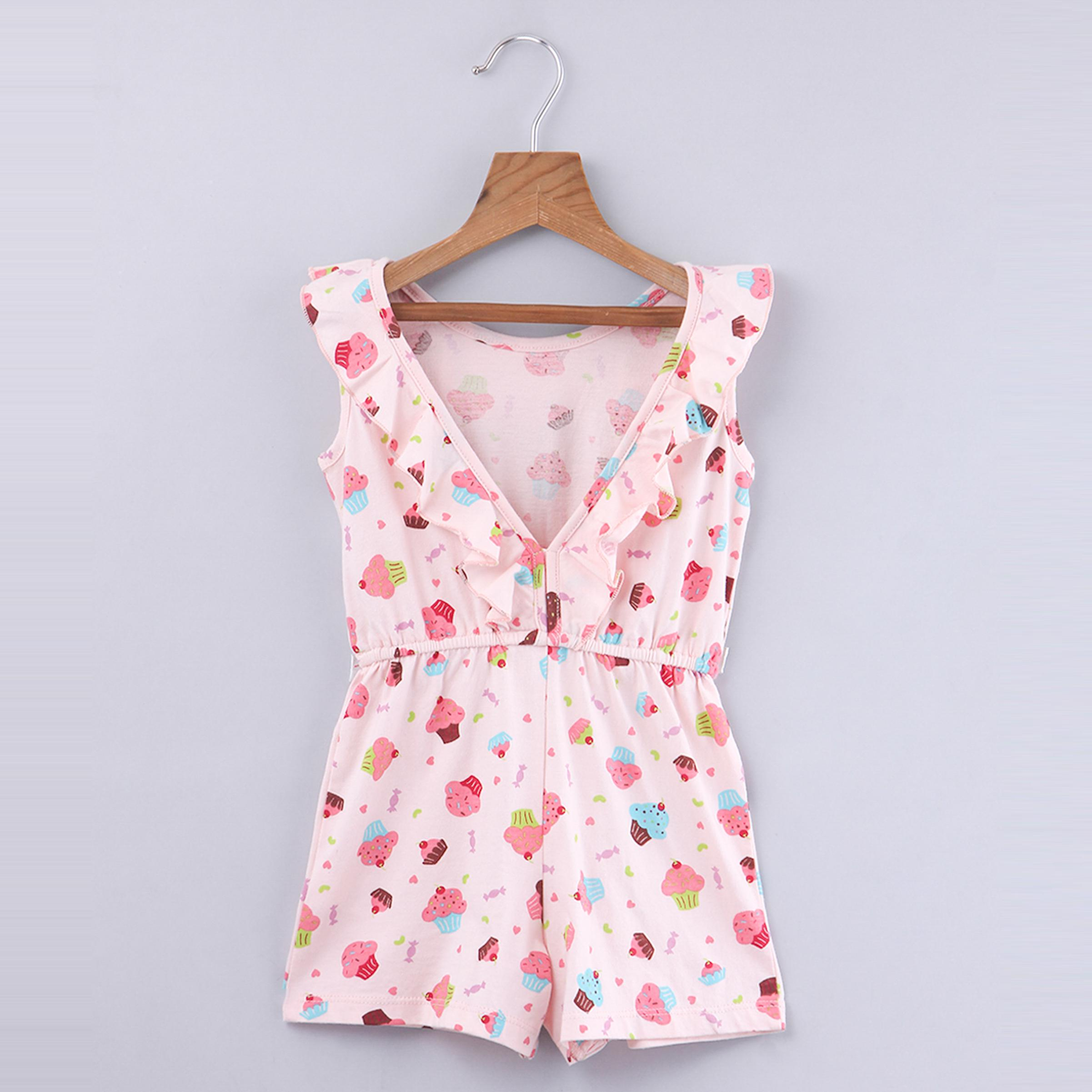 Beebay Cupcake Print Jumpsuit For Kids