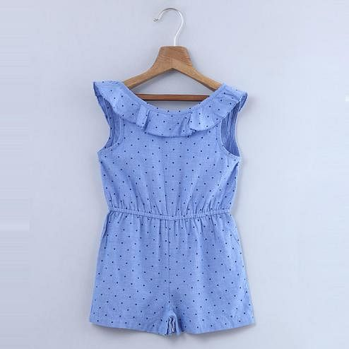 Beebay Star Print Chambray Jumpsuit For Kids