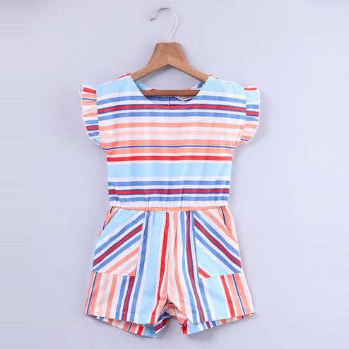 Beebay Stripe Jumpsuit With Pockets For Kids