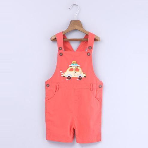 Beebay Car Applique Dungaree For Infants