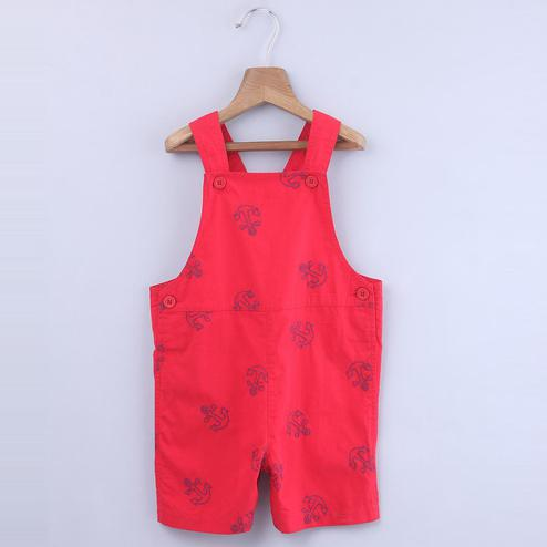Beebay Anchor Embroidered Dungaree For Infants