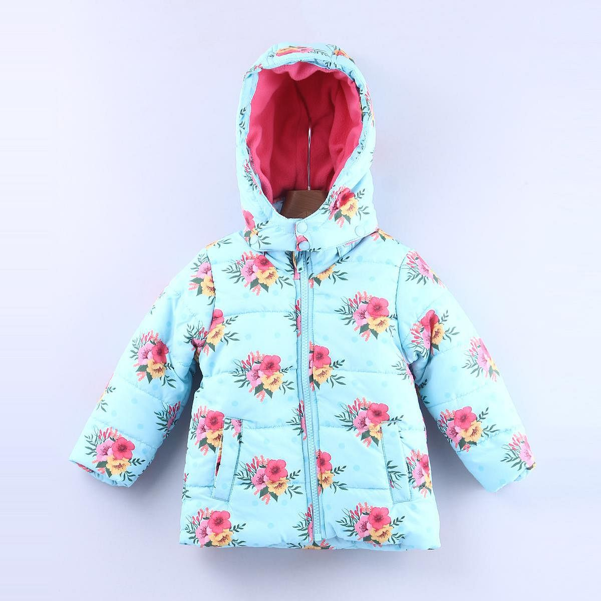 Beebay Floral Print Hooded Puffer Jacket For Infants