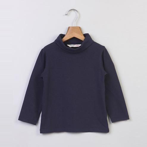 Beebay Navy Turtle Neck Top For Kids