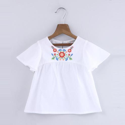 Beebay Floral Embroidered Blouse For Kids