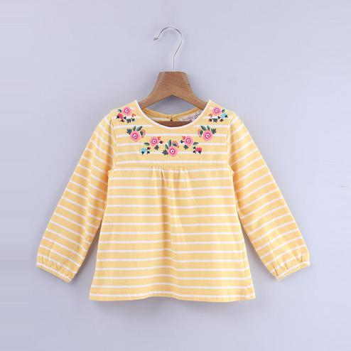 Beebay Floral Embroidered Top For Infants