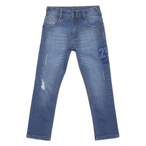 612 League - Blue Colored Distressed With 25 Emb Jeans For Boys