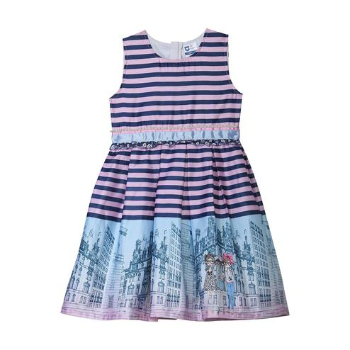 612 League - Pink Colored Printed Satin Border Cotton Dress For Girls