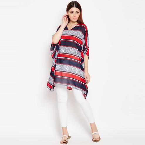 Trendy Multicolor Casual Wear Printed Georgette Tunic