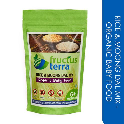 Certified Organic Rice & Moongdal Mix