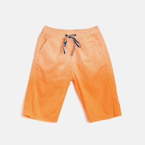 612 League - Yellow Colored Ombre Twill Shorts For Boys