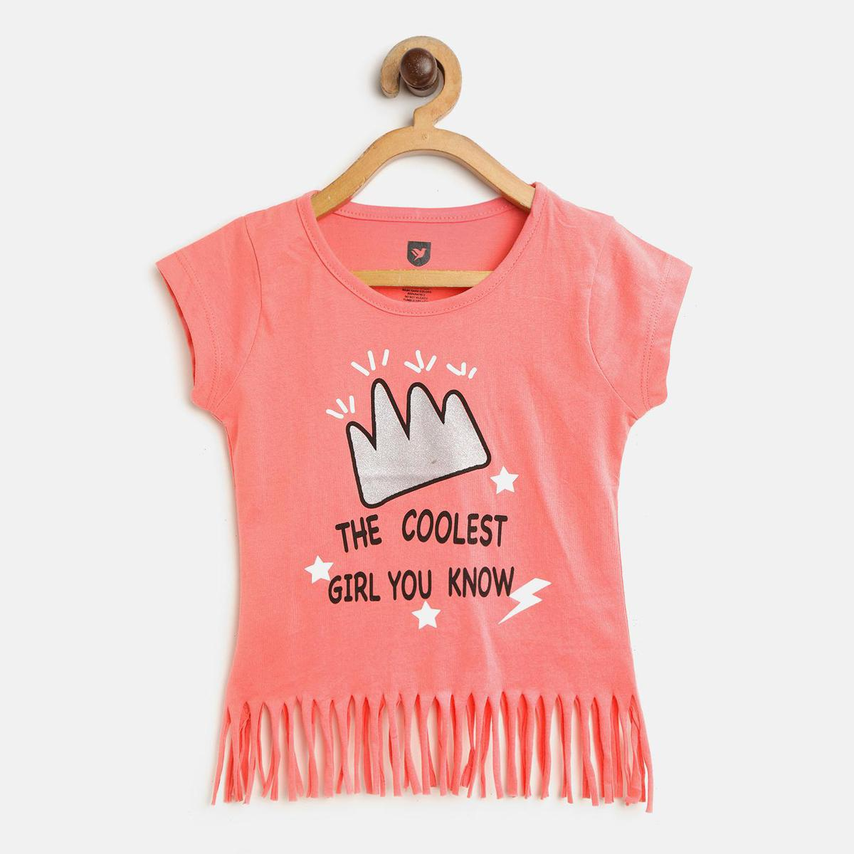 612 League - Peach Colored Coolest Girl Top For Girls