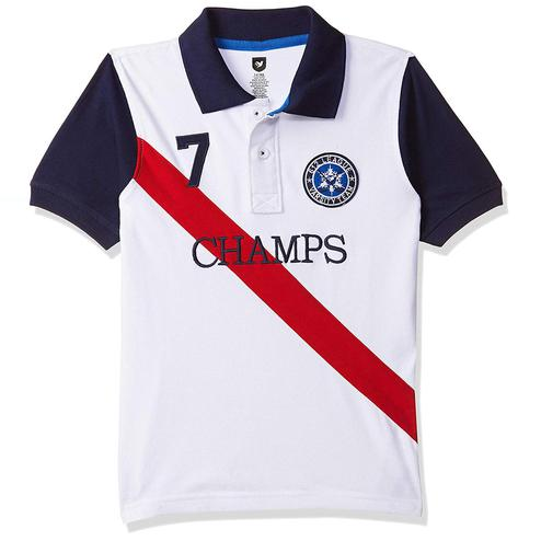 612 League - White Colored Champs H/S Polo T-shirt For Boys