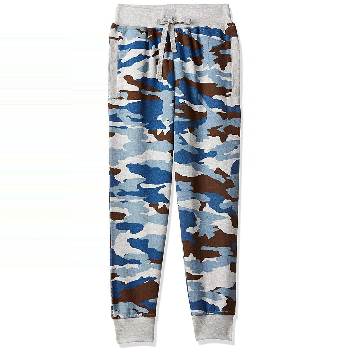 612 League - Blue Colored Camo Printed Track Pant / Joggers For Boys