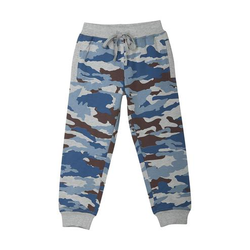 612 League - Blue Colored Printed Football Aop Knits Joggers For Baby Boys
