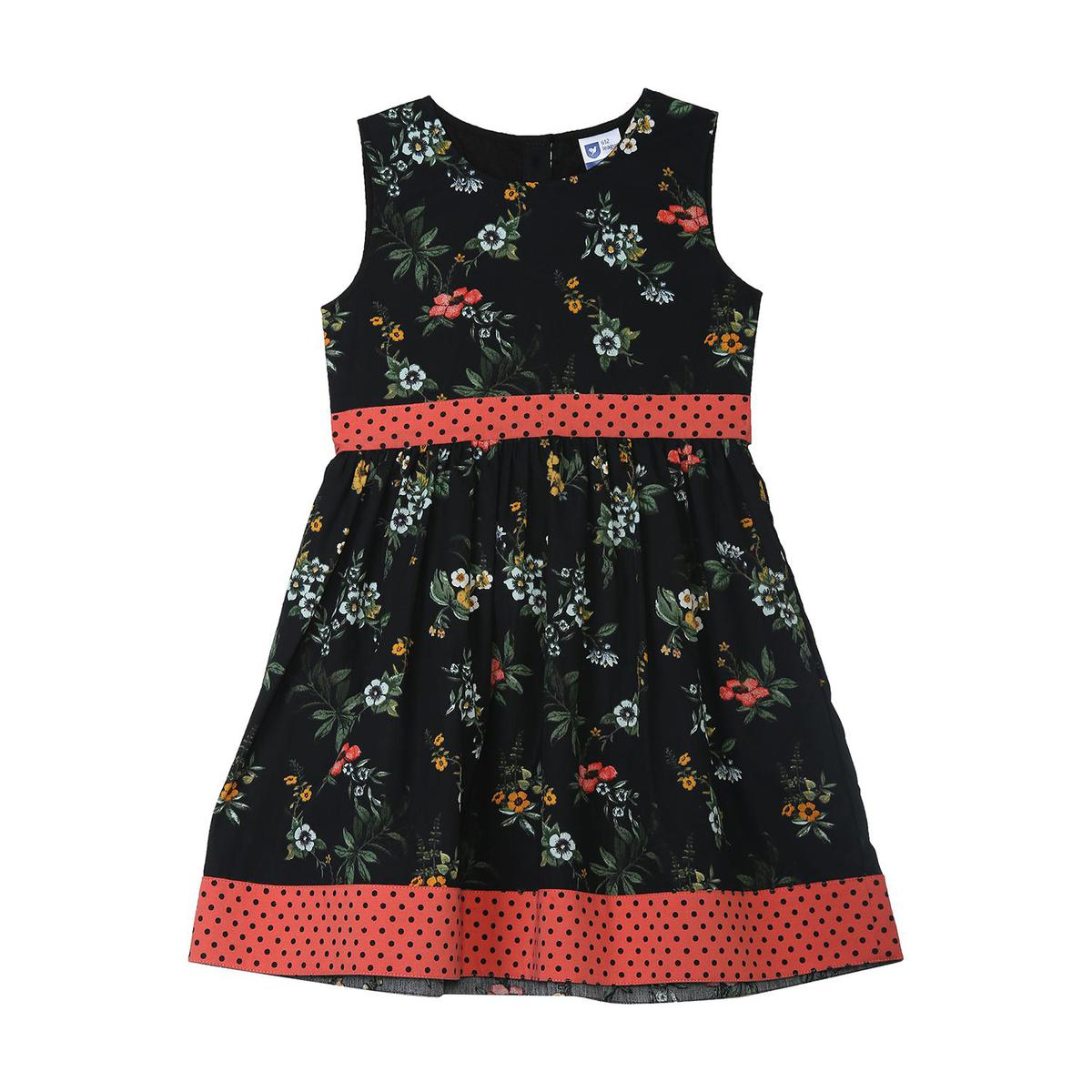 612 League - Black Colored Dot Print With Pocket Tops For Girls