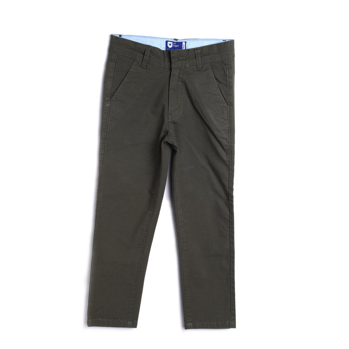 612 League - Black Colored Basic Twill Cotton Trouser For Boys
